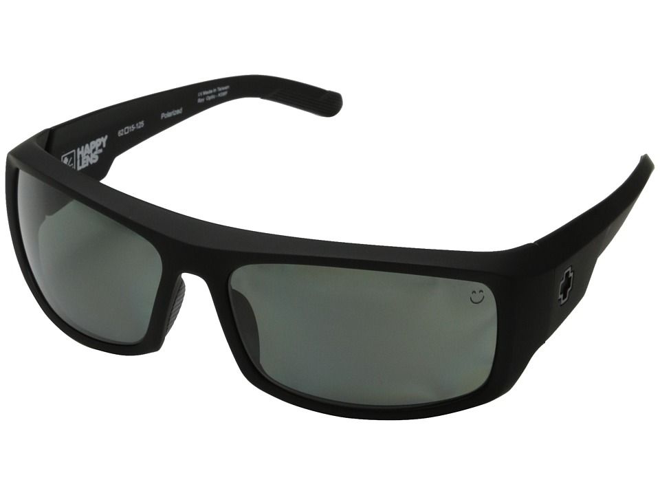 Spy Optic Admiral Soft Matte Black/Happy Gray Green Polar Fashion Sunglasses