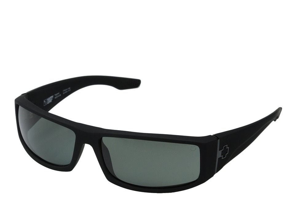 Spy Optic - Cooper (Soft Matte Black/Happy Gray Green Polar) Sport Sunglasses