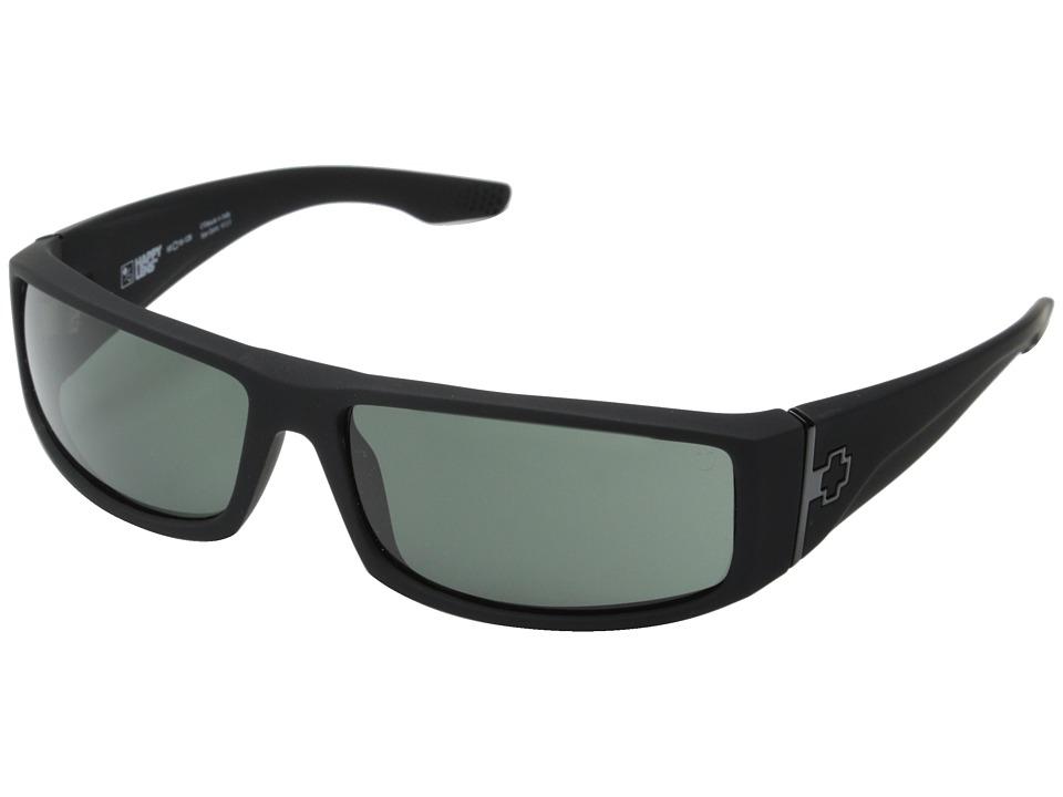 Spy Optic Cooper (Soft Matte Black/Happy Gray Green) Sport Sunglasses