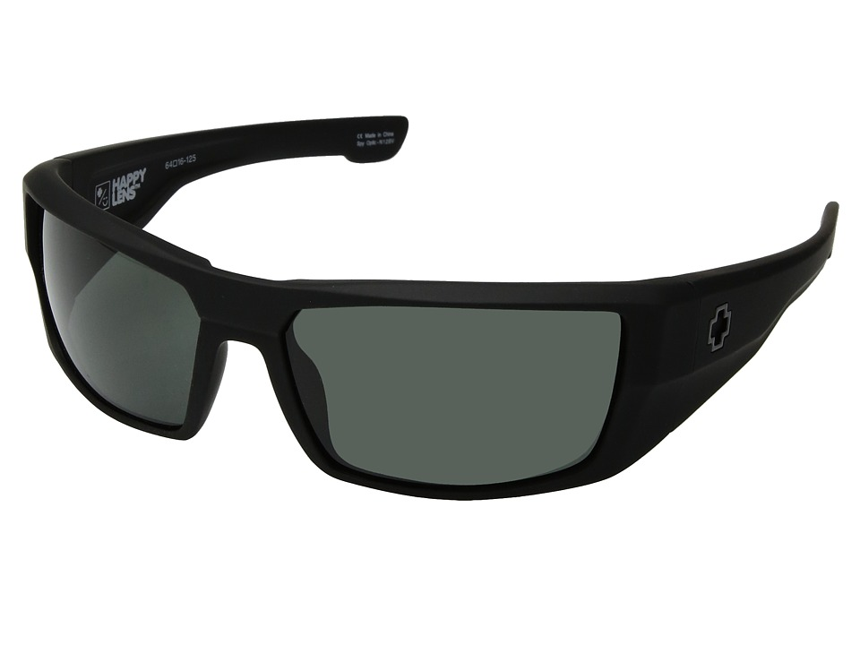 Spy Optic Dirk (Soft Matte Black/Happy Gray Green) Sport Sunglasses