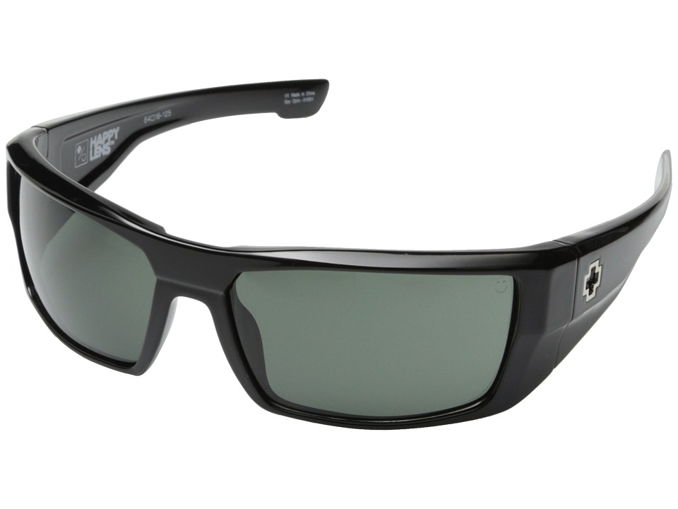 Spy Optic Dirk (Black/Happy Gray Green) Sport Sunglasses