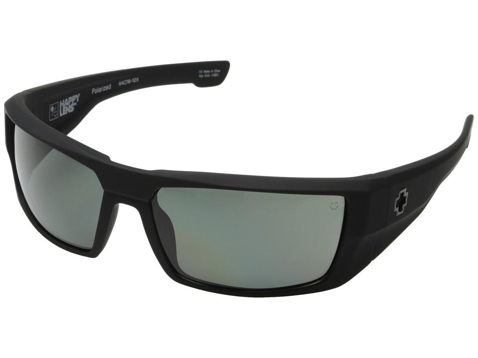 Spy Optic Dirk (Soft Matte Black/Happy Gray Green Polar) Sport Sunglasses