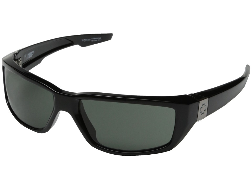 Spy Optic - Dirty Mo (Black w/ Signature/Happy Gray Green) Sport Sunglasses