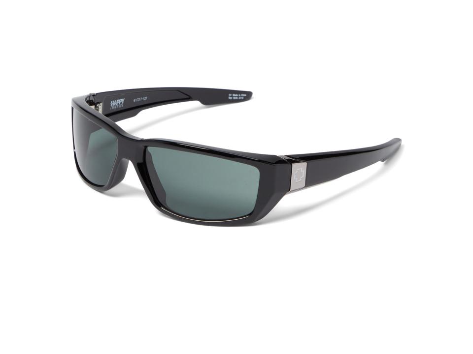Spy Optic Dirty Mo (Black w/ Signature/Happy Gray Green) Sport Sunglasses