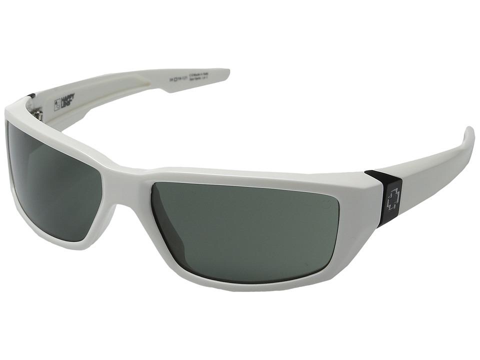 Spy Optic Dirty Mo (White w/ Signature/Happy Gray Green) Sport Sunglasses