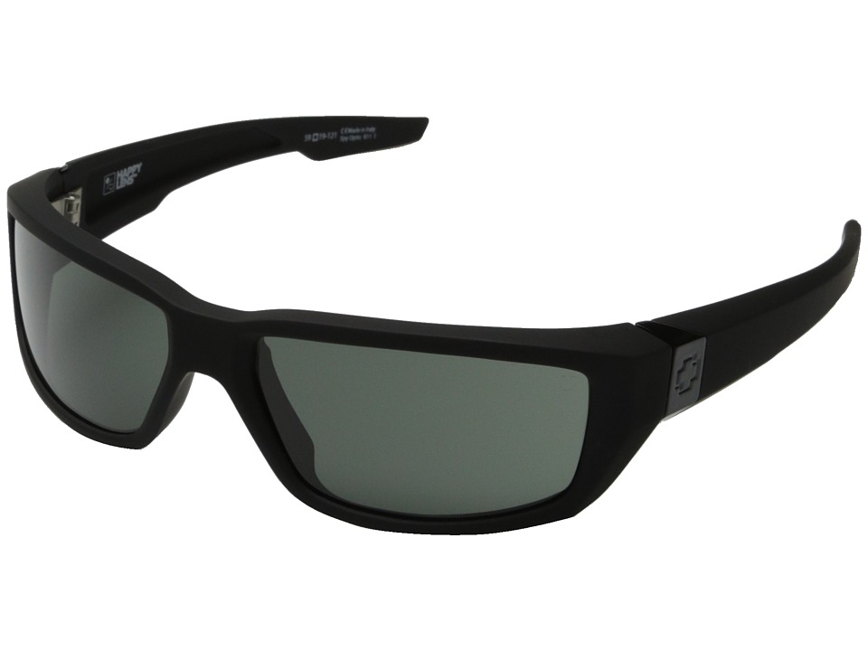 Spy Optic Dirty Mo (Soft Matte Black w/Signature /Happy Gray Green) Sport Sunglasses