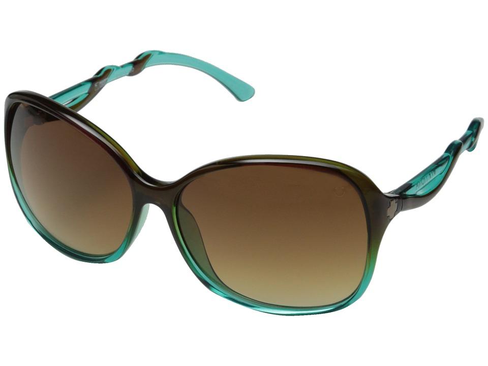 Spy Optic Fiona (Mint Chip Fade/Happy Bronze Fade) Sport Sunglasses