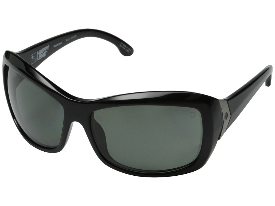 Spy Optic - Farrah (Black/Happy Gray Green Polar) Sport Sunglasses
