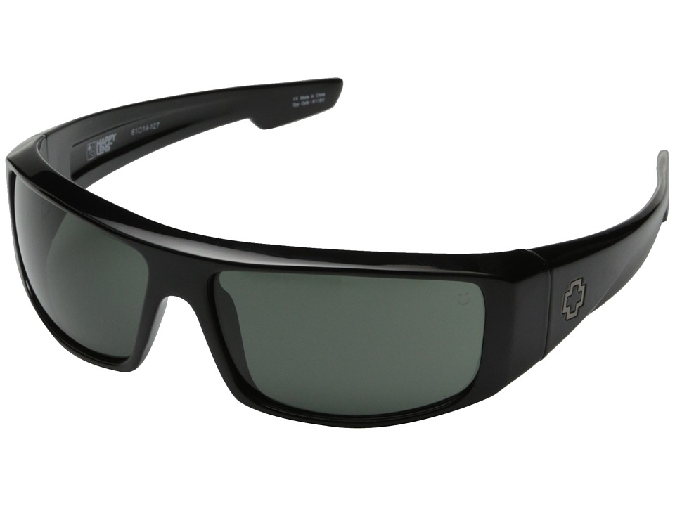 Spy Optic Logan (Black/Happy Gray Green) Sport Sunglasses
