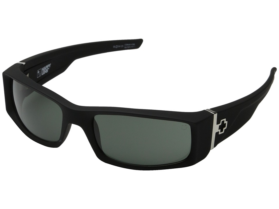 Spy Optic - Hielo (Soft Matte Black/Happy Gray Green) Plastic Frame Fashion Sunglasses