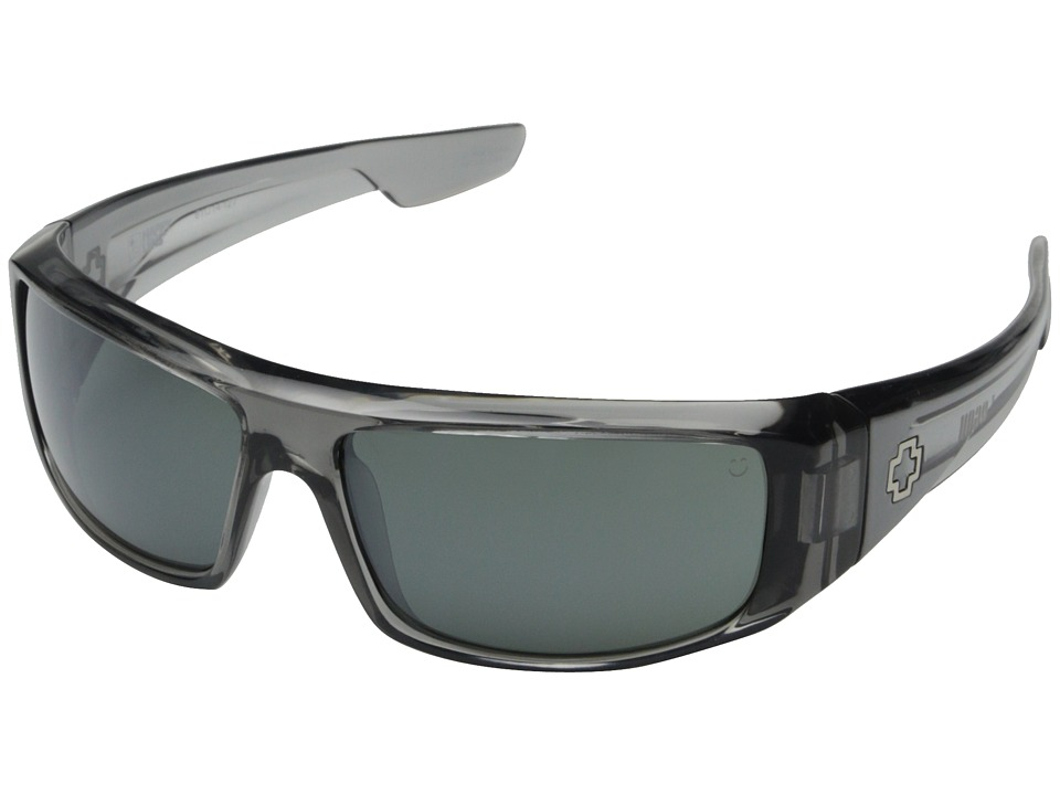 Spy Optic - Logan (Clear Smoke/Happy Gray Green w/ Silver Mirror) Sport Sunglasses
