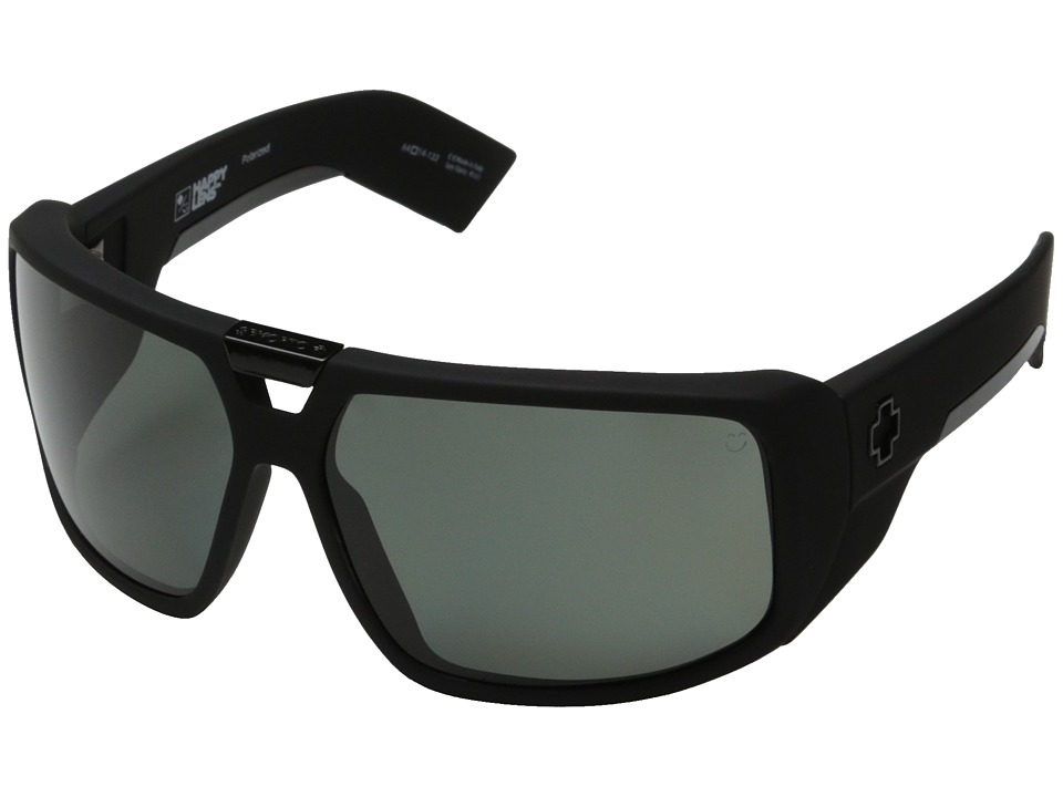 Spy Optic - Touring (Soft Matte Black/Happy Gray Green Polar) Sport Sunglasses