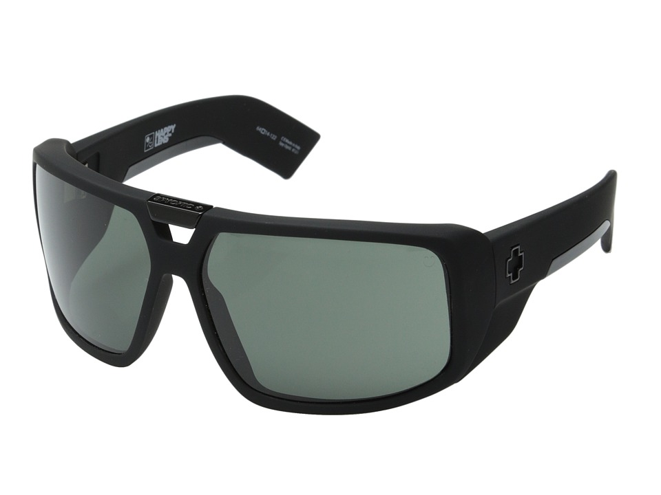 Spy Optic Touring (Soft Matte Black/Happy Gray Green) Sport Sunglasses