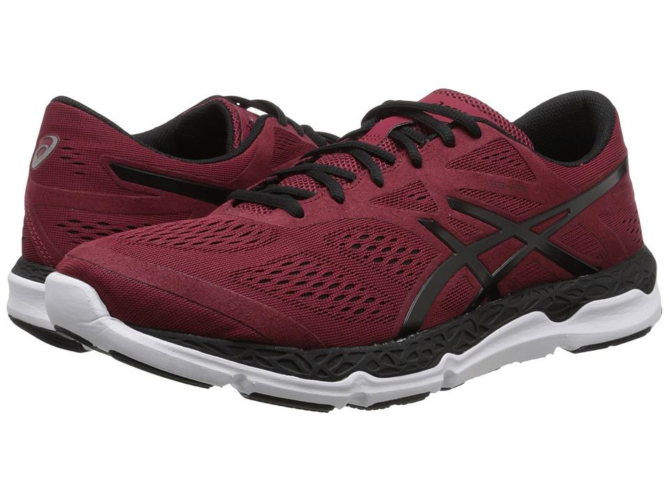ASICS 33 FA Deep Ruby/Black/White Mens Running Shoes