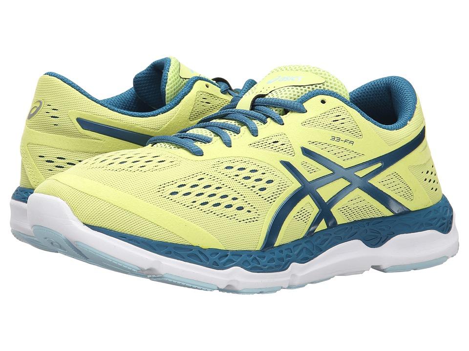 ASICS 33 FA Sunny Lime/Mosaic Blue/White Womens Running Shoes