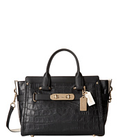 COACH - Embossed Croc Coach Swagger Carryall
