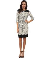 Adrianna Papell - Guipure Lace Printed Sheath