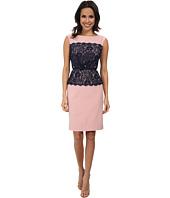 Adrianna Papell - Lace Midriff Sheath Dress