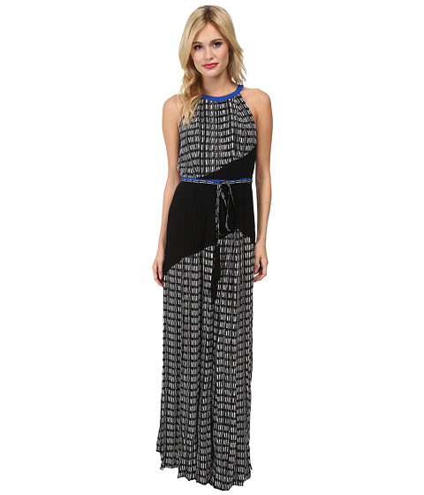 Adrianna Papell Color Blocked Printed Maxi