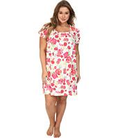 LAUREN by Ralph Lauren - Plus Size Jardin Du Luxenbourg Floral Short Gown