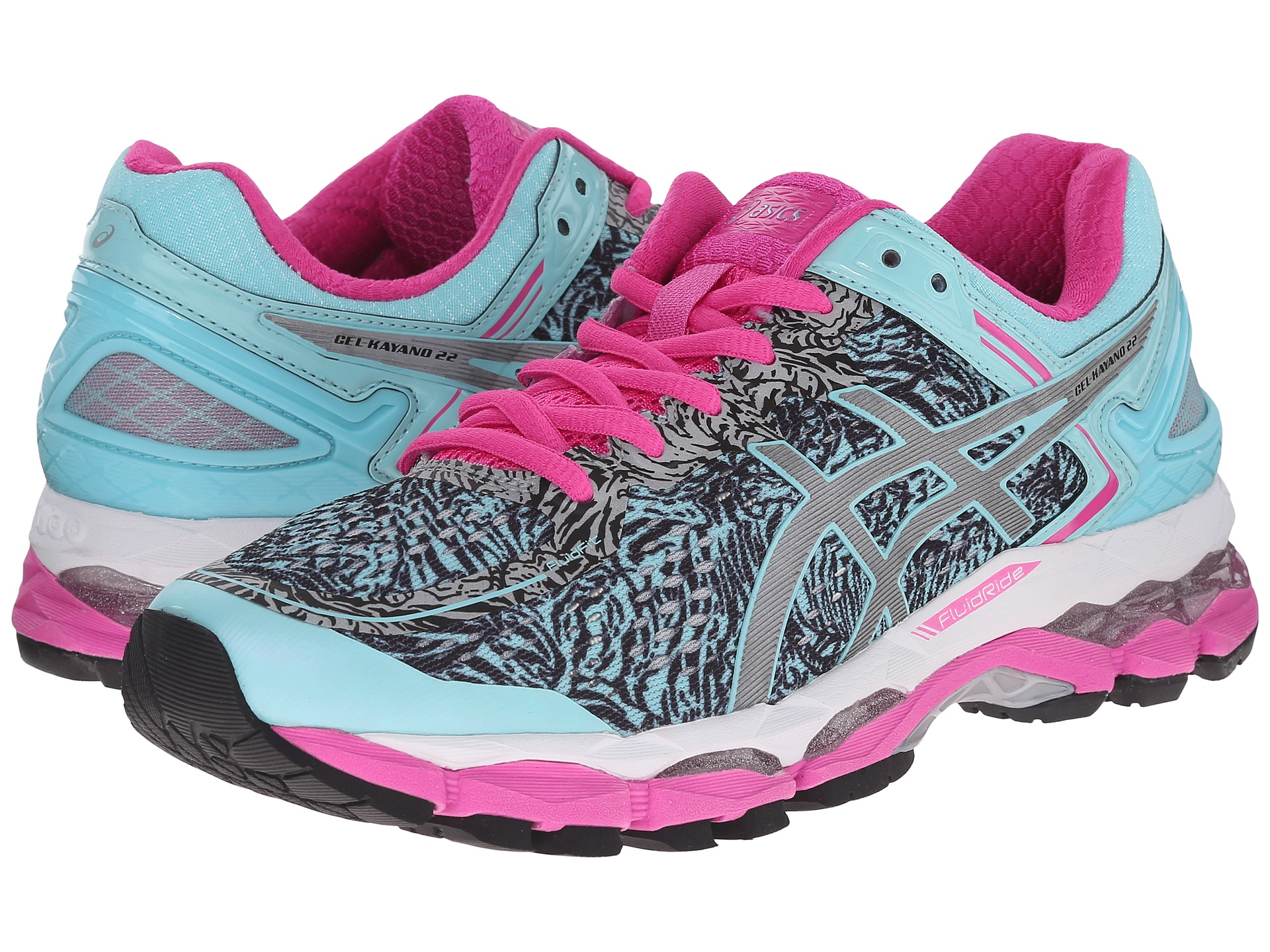 asics gel kayano 22 lite show aqua splash silver pink glow free shipping both ways. Black Bedroom Furniture Sets. Home Design Ideas