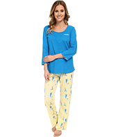Jockey - Mystic Bay L/S Top w/ Sailboats Printed Pant Pajama Set