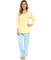 Jockey - Mystic Bay L/S Top w/ Beach Chairs Printed Pant Pajama Set