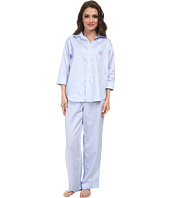 LAUREN by Ralph Lauren - Petite Hampton Classics Sateen Classic Notch Collar PJ
