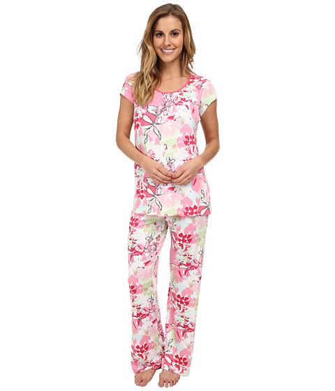 Jockey - Spring Pop Sorbet Printed S/S Top w/ Printed Long Pant Pajama Set (Sorbet Jungle) Women's Pajama Sets