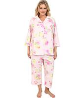 LAUREN by Ralph Lauren - Plus Size Hampton Classics Bingham Knits Floral Capri PJ