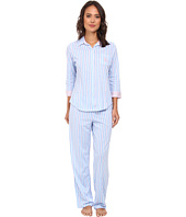 LAUREN by Ralph Lauren - Hampton Classics Three-Quarter Sleeve Long Pant PJ Set