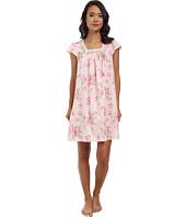 LAUREN by Ralph Lauren - Victorian Lawn Flutter Sleeve Short Gown