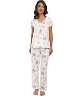 LAUREN by Ralph Lauren - Victorian Lawn S/S Long Pant PJ Set