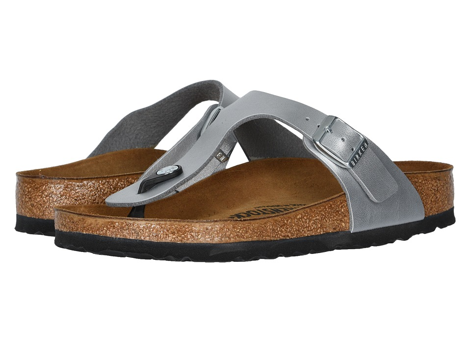 Birkenstock Gizeh Birko-Flor (Metallic Silver Birko Flor) Women's Sandals, Footwear, wide width womens sandals, wide fitting sandal, WW