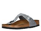 Birkenstock - Gizeh Birko-Flor (Metallic Silver Birko Flor) - Footwear