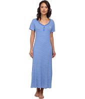 LAUREN by Ralph Lauren - Essentials S/S V-Nick Henley Maxi Gown