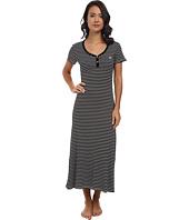 LAUREN Ralph Lauren - Essentials S/S V-Nick Henley Maxi Gown