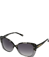 Betsey Johnson - Square Cat Shape Frame w/ Gradient Print Overlay Lens