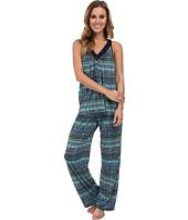 Midnight by Carole Hochman - Springtime Impressions Satin Neckline Pajama
