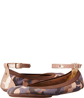 Yosi Samra - Abbey Washed Camo Leather Flat