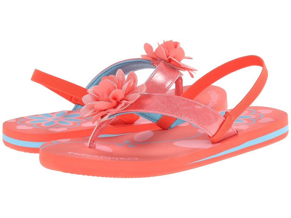 Crabbyclaws Flower Toddler/Little Kid/Big Kid/Big Kid Coral Patent Girls Shoes