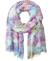 Echo Design - Soft Floral Color Block Wrap Scarf