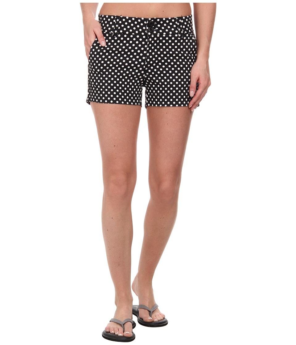 KAVU Catalina Short Black Dots Womens Shorts
