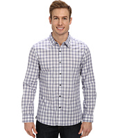 Kenneth Cole Sportswear - L/S Yarn Dye Check Shirt w/ Contrast Elbow Patch Shirt