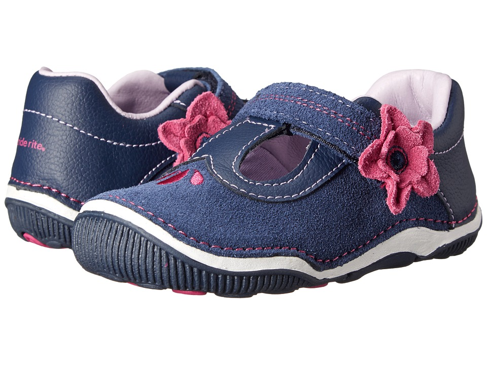 Stride Rite SRT Teagan (Toddler) (Navy) Girl's Shoes