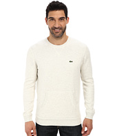 Lacoste - L!Ve Cotton Crew Neck Sweater w/ Kangaroo Pockets