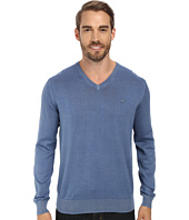 Lacoste - Jersey V-Neck Vintage Wash Sweater
