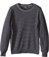 Vince Kids - Stripe Crew Neck Sweater (Toddler/Little Kids)