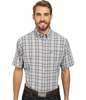 Cinch - Athletic Poly Spandex Short Sleeve Woven Plaid