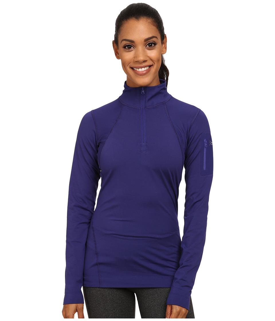 Arcteryx Rho LT Zip Neck Azulene Womens Clothing